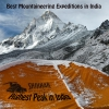Mountaineering expeditions in India
